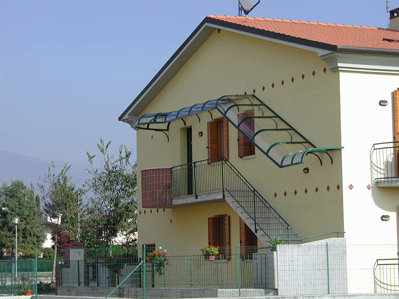 Pensiline Copertura Scale Esterne Roof Srl